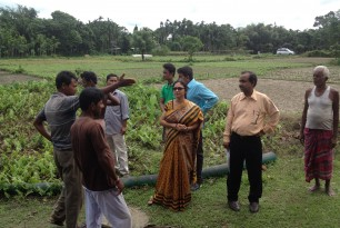 Site slelection visit September 2014 in West Bengal