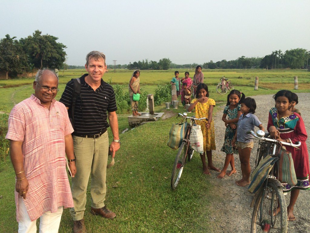 Visiting freshwater well, Dhologuri, Cooch Behar