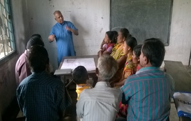 Pic-1: Discussion with farming group at site-2 ( Karjee para ).