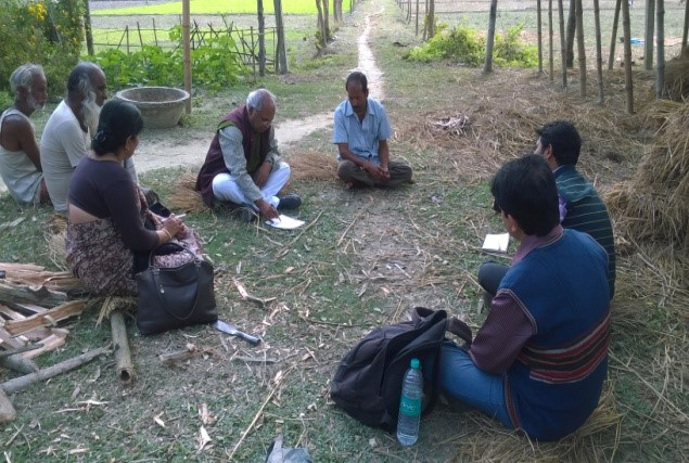 Pic-2: Discussion after the transect walk in the farmers' field.